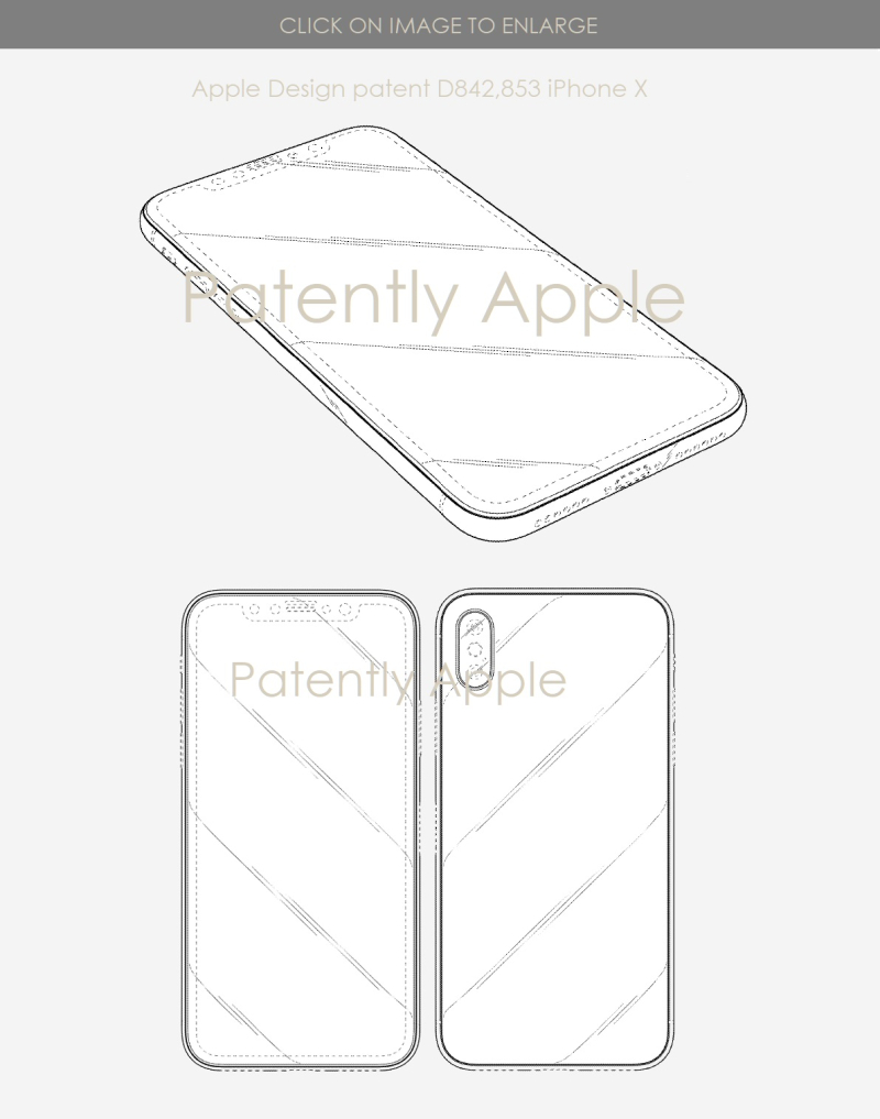4 Apple iPhone X design patent  Patently Apple report