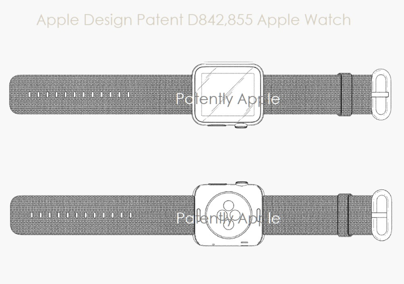 2 x Apple Watch design patent D842  855