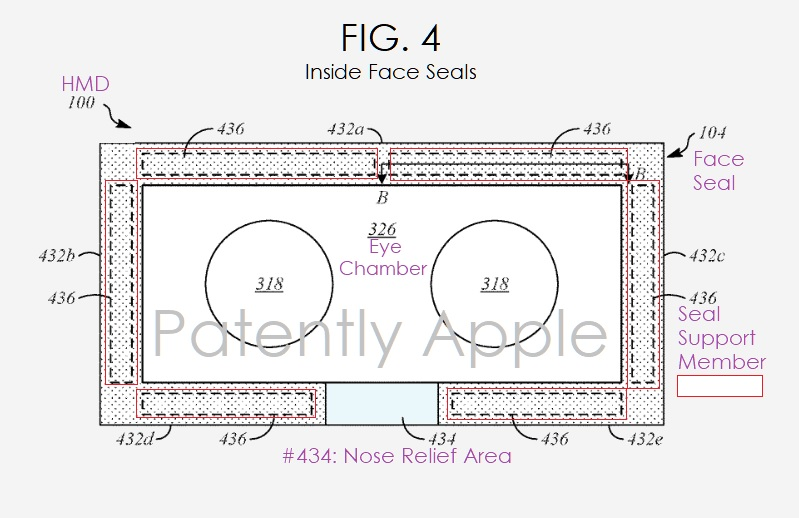 3 Apple patent FIG. 4 inside HMD face seals - Patently Apple IP Report March 15  2019