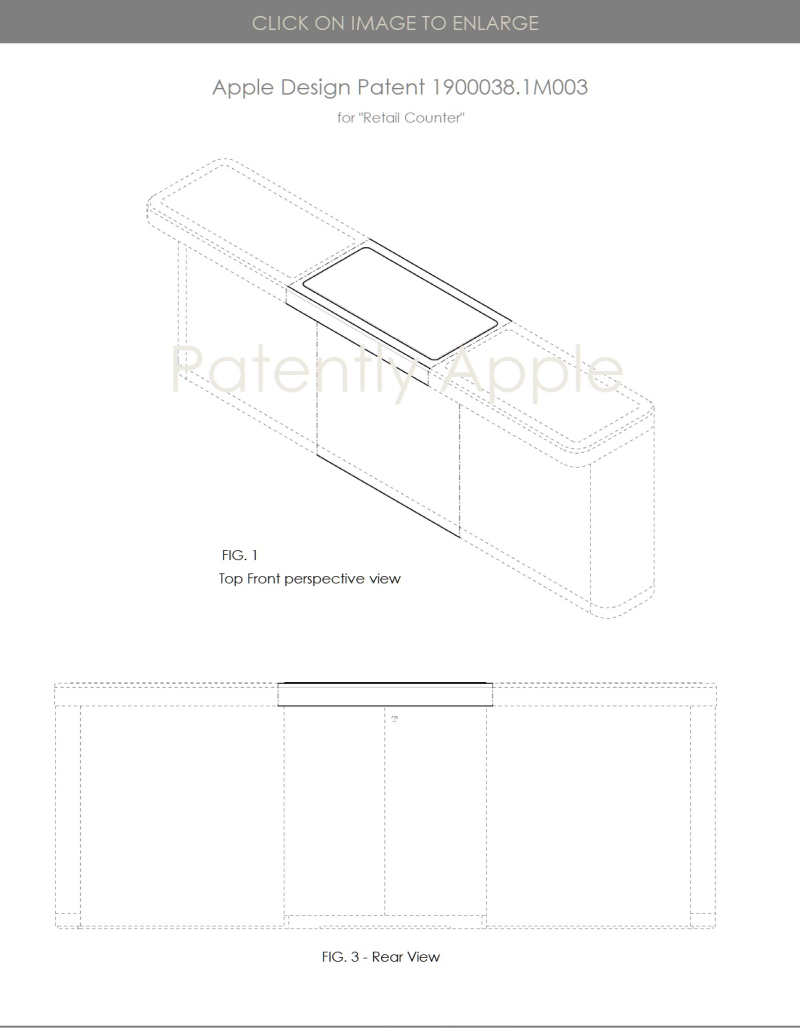 2 Apple design patent HK retail counter  - Patently Apple IP report July 20