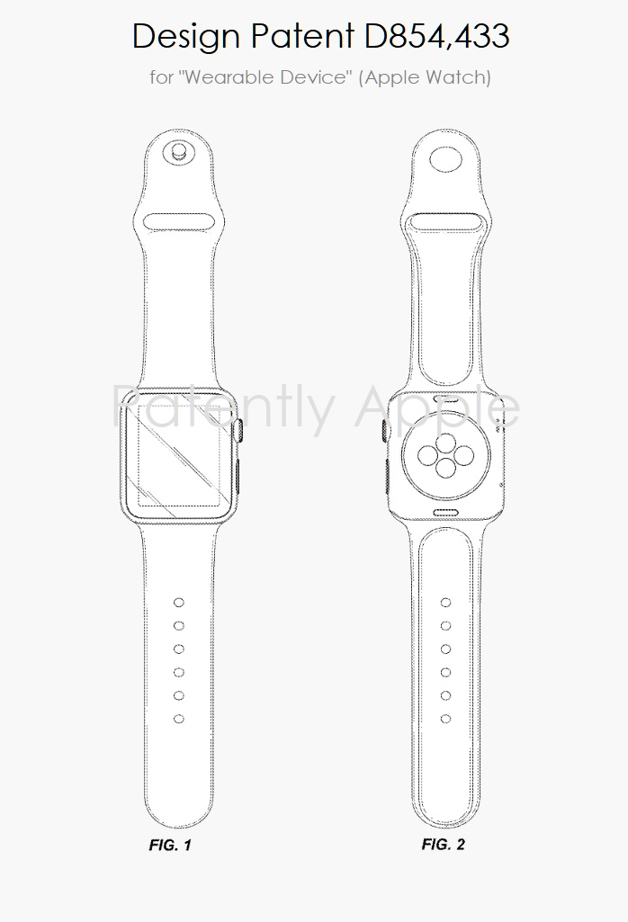 4 Apple Watch design patent d854 433