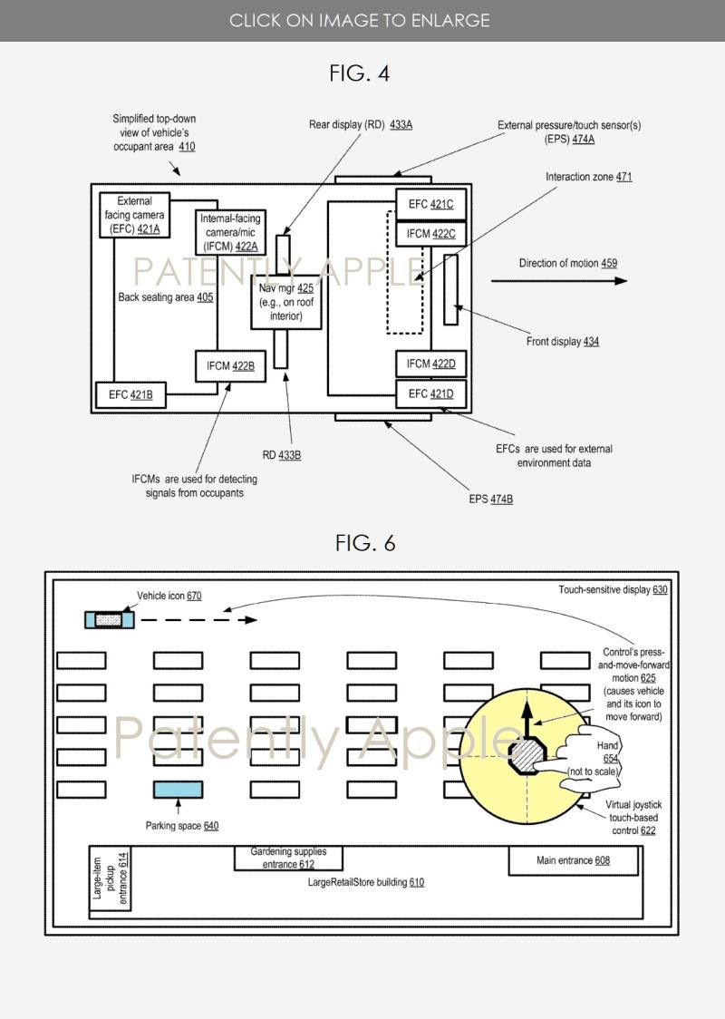 3 X Apple autonomous vehicle system patent figs 4 & 6
