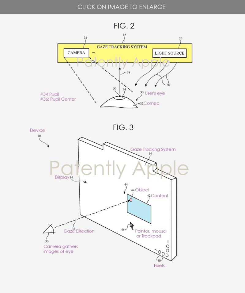 2 Apple patent figs 2 & 3 eye tracking system
