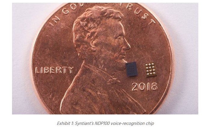 3 X size of Syntiant AI processors