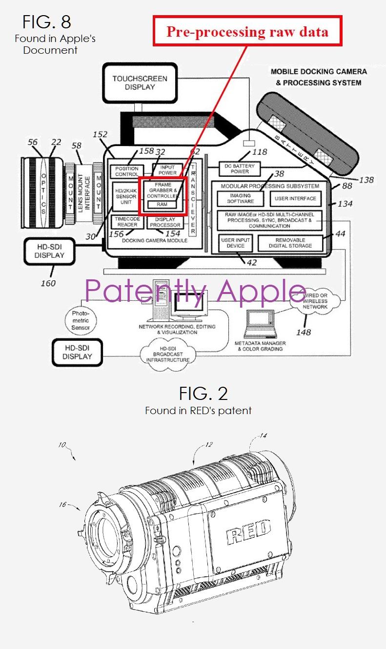 2 RED camera patent figure
