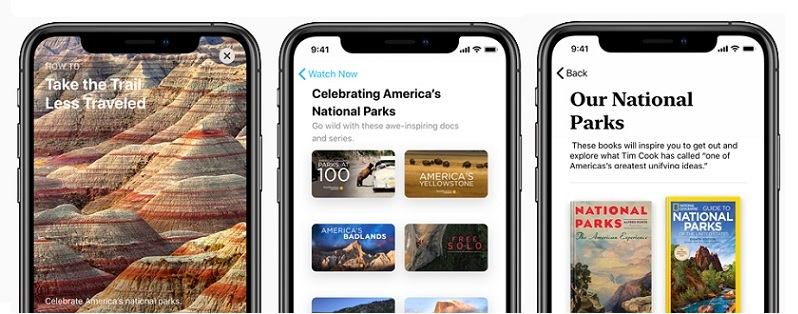 1 x cover - apple  National Parks