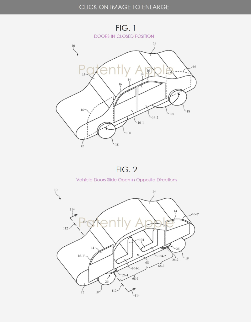 3 Granted patent #2  figs 1 & 2 doors with adaptive positioning