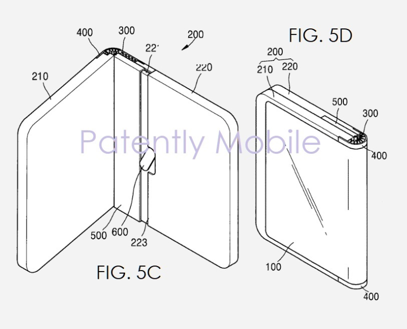 7 samsung patent for foldable device