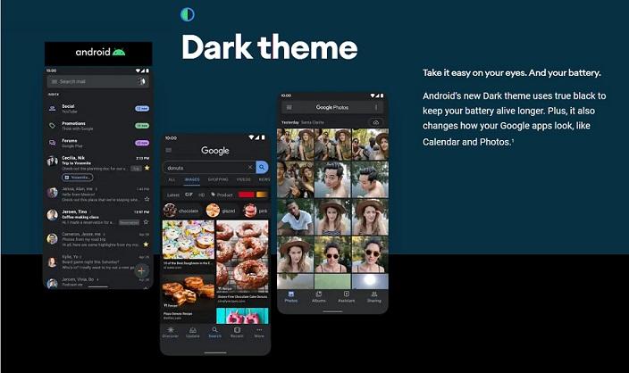 3 X dark theme android 10