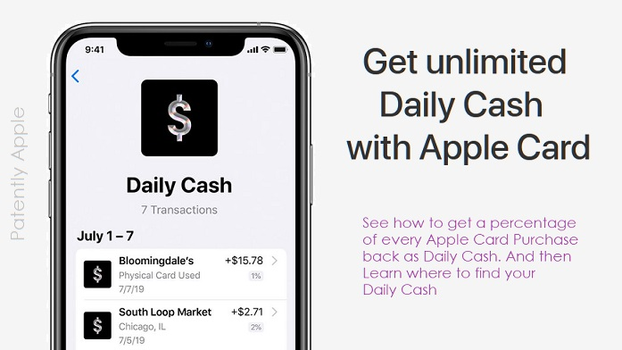 1 X Cover Daily Cash  Apple Card