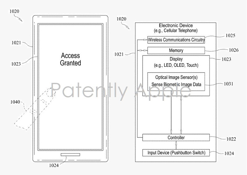2 iPhone patent for touch id in the display