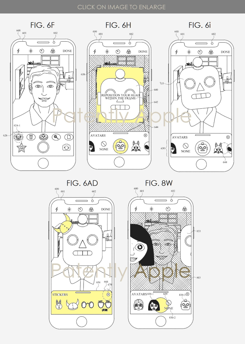 2 Apple wins patent for hybrid animoji system - figs  6f  H & i Patently Apple IP Report Apr 23  2019