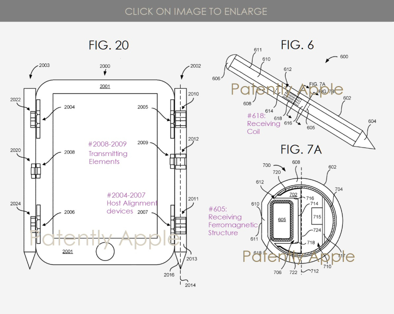 2 magnetics system for Apple Pencil and other accessories to attach to a host device  Patently Apple IP Report May 9  2019