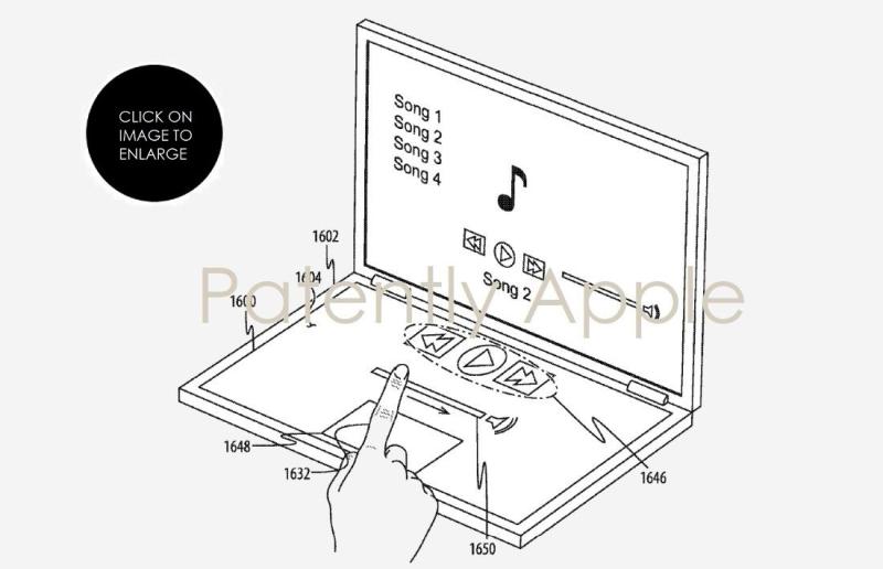 2 x dual display macbook with music app UI