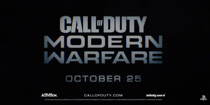 1 x Cover Modern Warfare  Call of Duty oct 25  2019