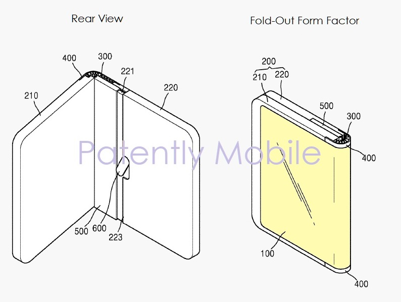 3 Samsung wins patent for fold-out foldable smartphone - figs 5C & 5D  Patently Mobile IP report May 22  2019