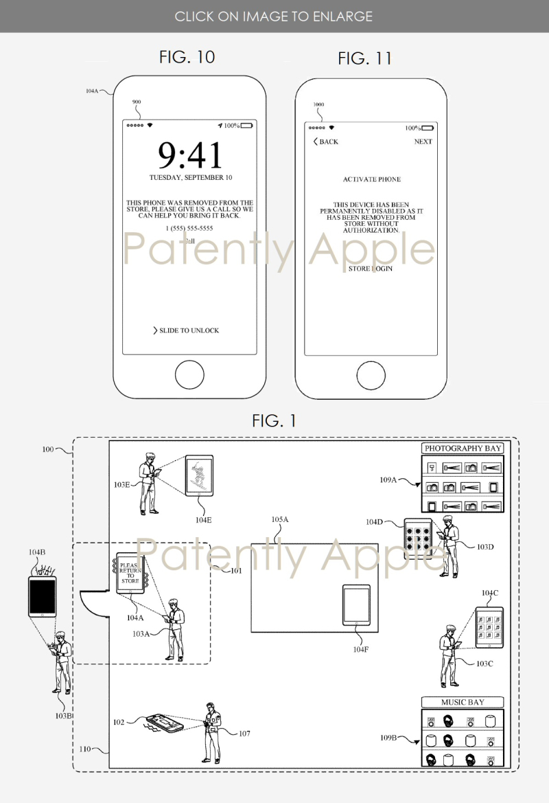 2 Apple security system invention  multiple figs 1  10 and 11