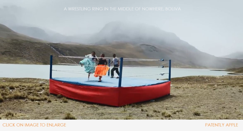 3 X2 WOMEN WRESTLERS IN A RING IN THE MIDDLE OF NOWHERE - BOLIVIA
