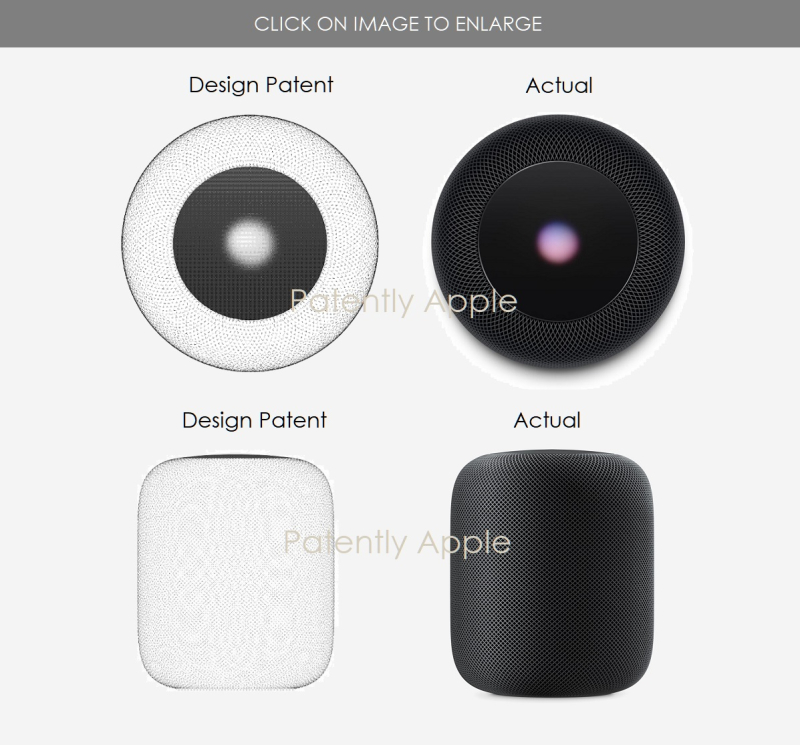 4 design platent for HomePod with Animated Light Display
