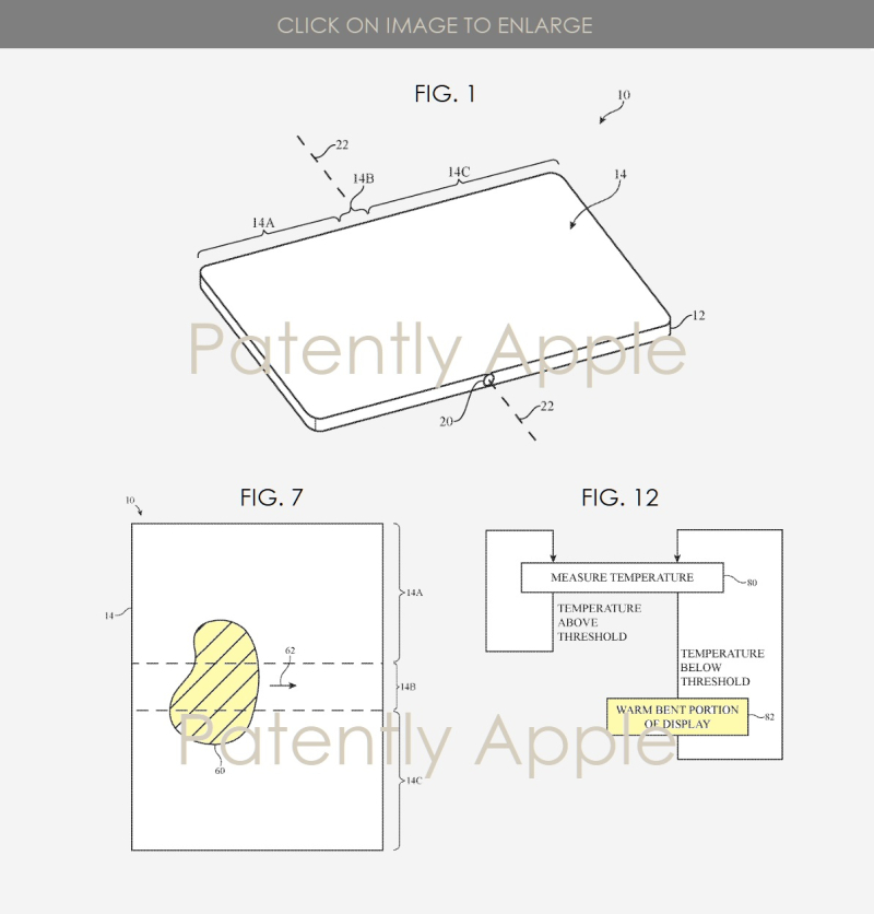 2 x Apple bendable device  warming fold area