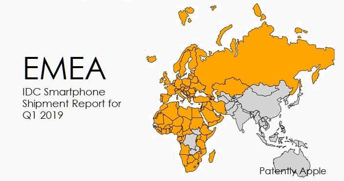 1 X EMEA SMARTPHONE SHIPMENT REPORT FOR Q1 2019