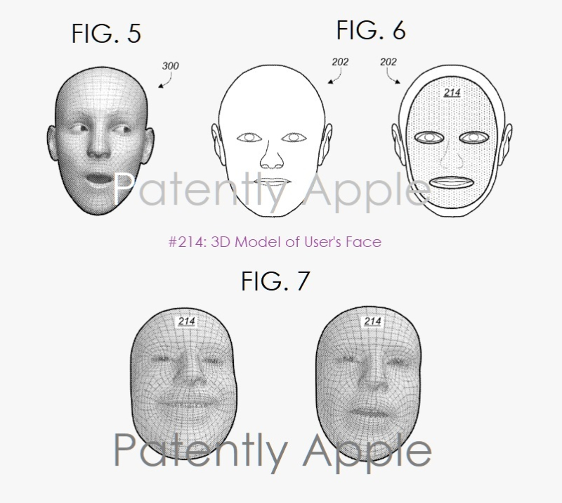 2 Apple patent figures  creating a 3d model of user