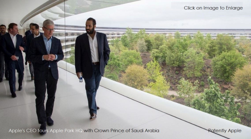 2 Cover Apple CEO with Crown Prince of