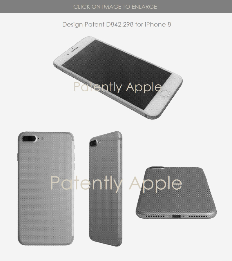 3 iPhone 8 design patent figure