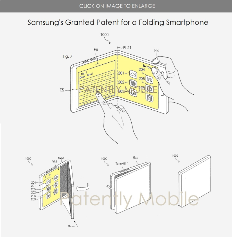3 X Samsung Clamshell design