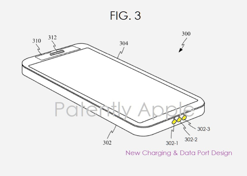 2 x Apple patent FIG. 3 new waterproofing port design contemplated for iPhone