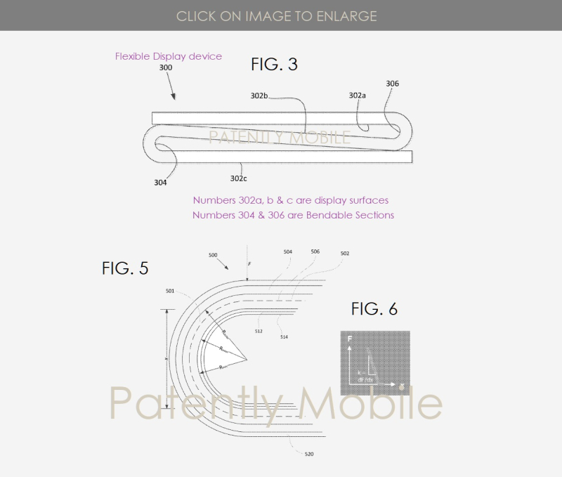 3 Google patent for folding smartphone  Mar 2019 Patently Mobile report figs  3  5 & 6