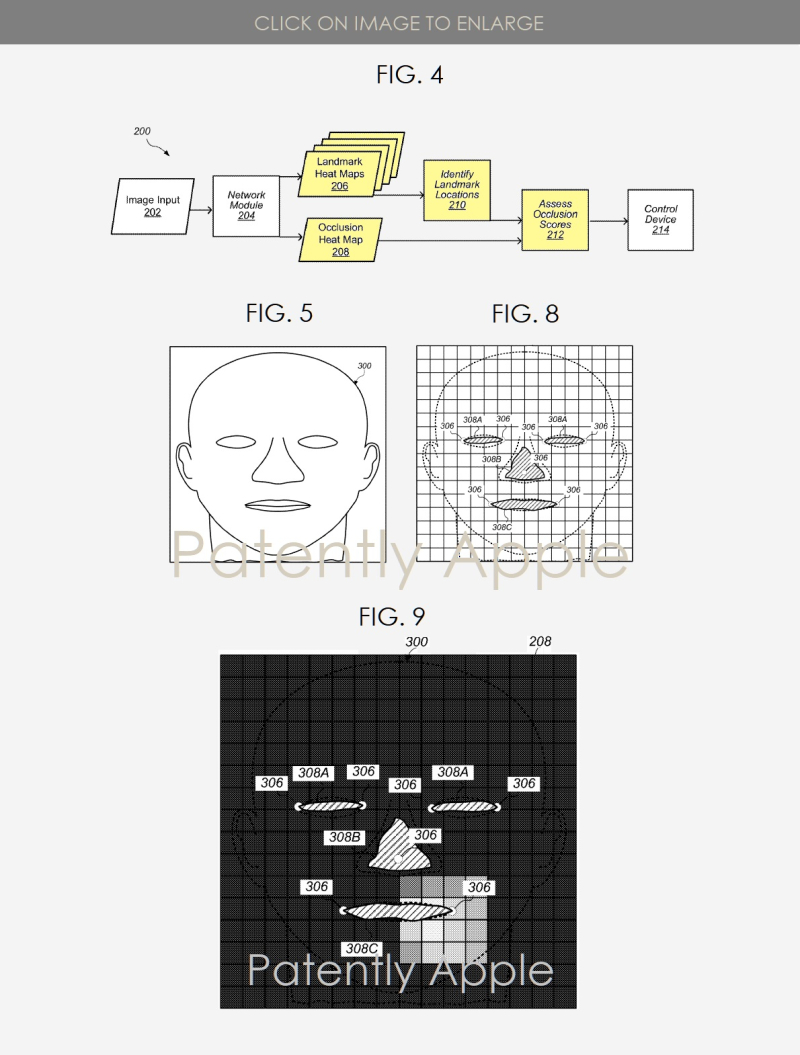 4 X Apple patent figs 4  5  8  9  heat mapping  Patently Apple IP report March 14  2019