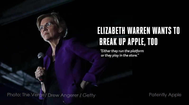 3 X Cover Elizabeth Warren break up Apple