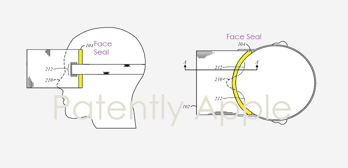 1 X Cover - apple hmd face seal invention  patent application  Patently Apple IP report march 15  2019
