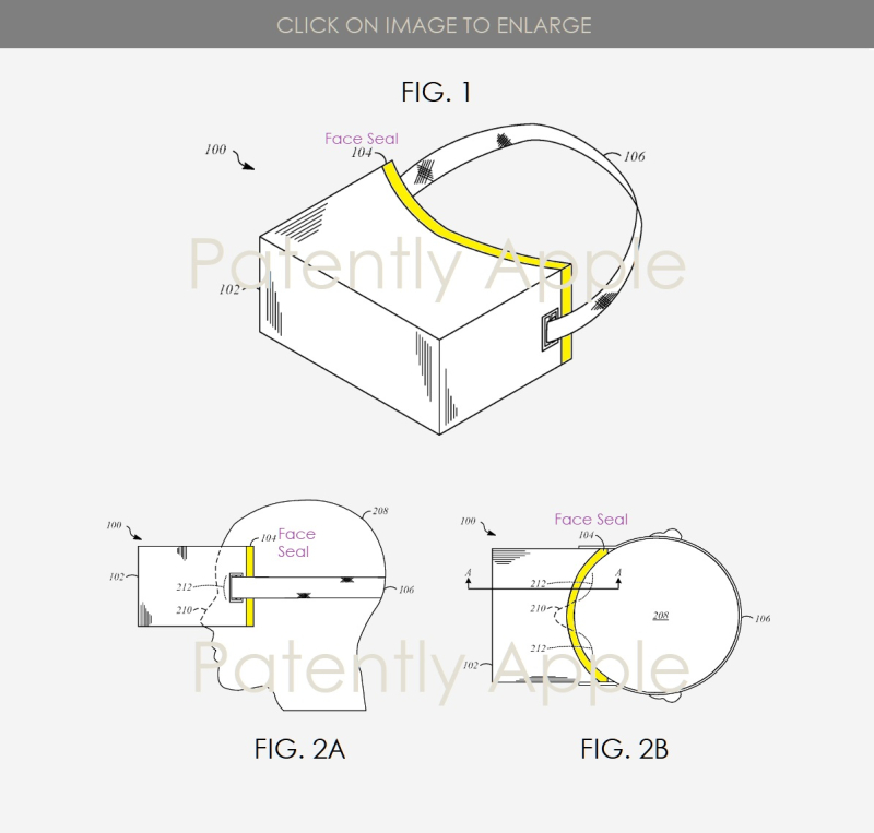 2 Apple patent FIGS 1  2A B FACE SEAL INVENTION  IP REPORT BY PATENTLY APPLE MAR 15  2019