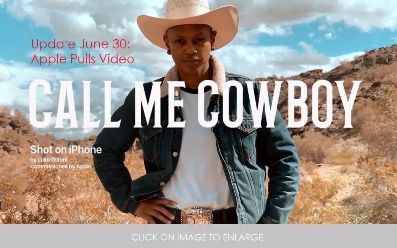 1 X new after video pulled -  cOVER large - call me cowboy shot on iPhone