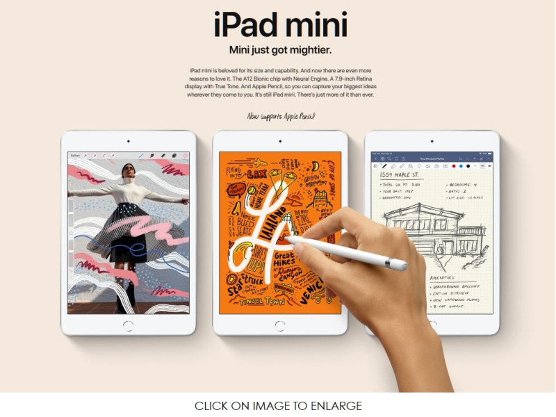 3 X iPad Mini mAR 18  2019