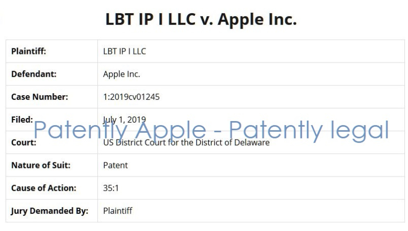 2 x overview info - LBT IP LLC V Apple Inc