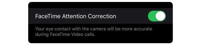 2 Facetime attention correction