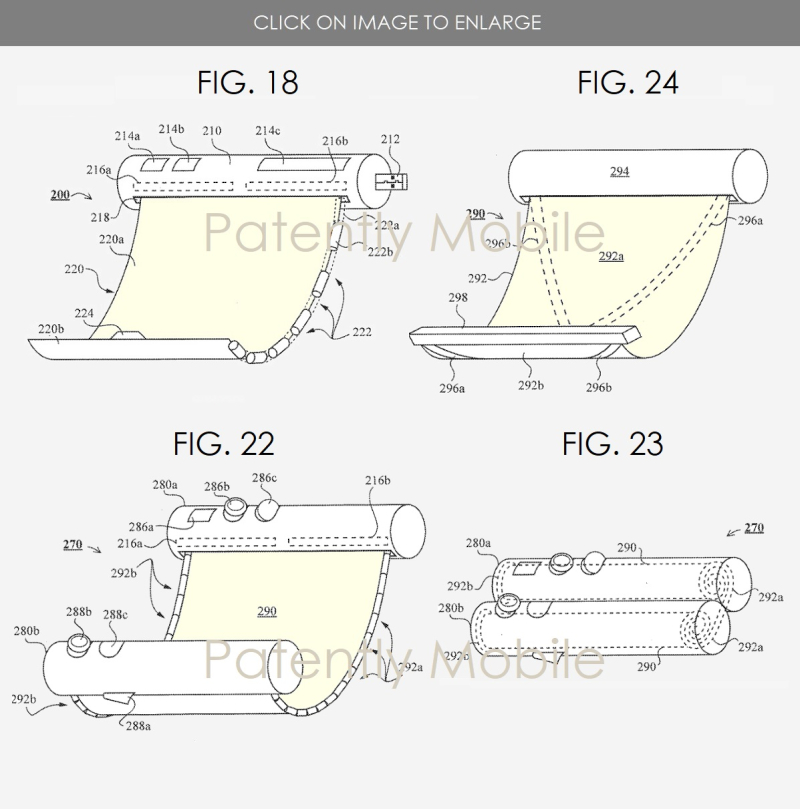 2 Samsung scrollable  rollable figs 18  22  23  24