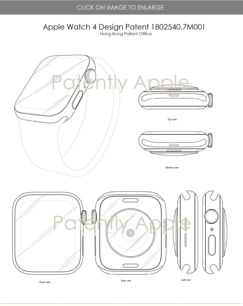 9.1 X3 Apple Watch 4 design patent 1802540.7M001 - Third round of patent figures