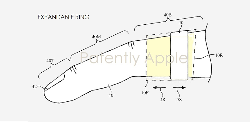 4 smart ring Apple patent figure