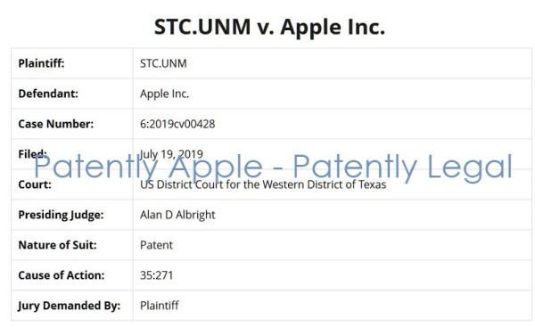A Patent Troll with a Clever Cover Identity Sues Apple for Patent Infringement using Patents tied back to Massive Nationalized Troll