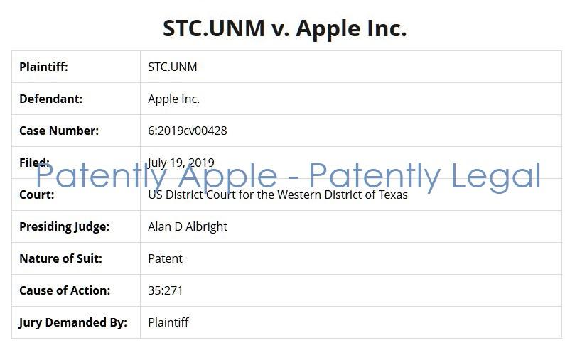 2 STC.UNM v. Apple in