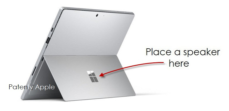 1 Cover PATENTLY APPLE - Surface Pro with speaker patent
