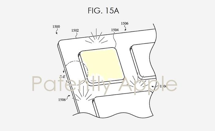 4 Final Fig 15a Apple carbon fiber keyboard with light-transmissive fibers