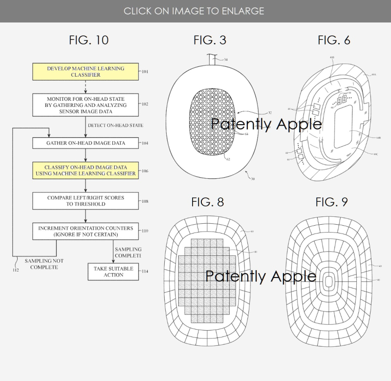 2 Apple over-the-ear headphones patent  9th such patent since Feb 2019 figs. 3  6  8  9  10