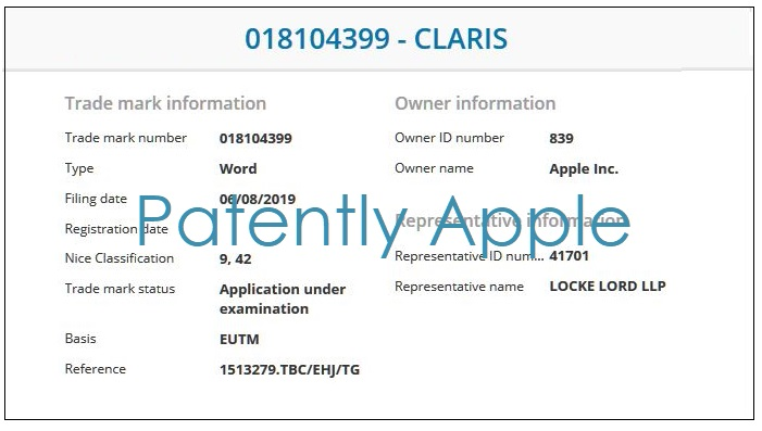 2 Claris TM from Apple