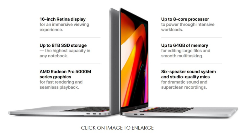 2 A SPECS MacBook Pro 16 INCH
