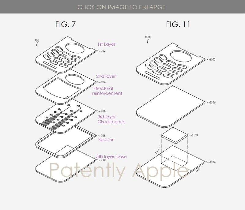 3 Apple foldable clamshell style phone figs 7 & 11  Patently Apple IP Report Apr 4  2019